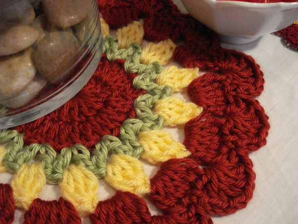 Large Tulips Doily