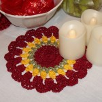 Small Tulips Doily