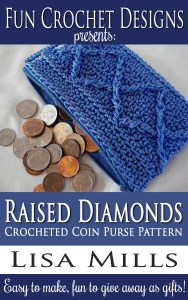 The Raised Diamonds Crocheted Coin Purse Pattern on Amazon