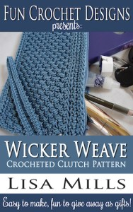 The Wicker Weave Crocheted Clutch Pattern on Amazon