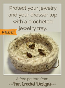 Free Crocheted Jewelry Tray Pattern