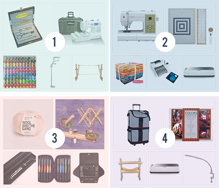 crafter's dream giveaway win a cricut, a sewing machine, crochet supplies and more