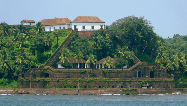 Reis Magos Fort Goa from our yacht