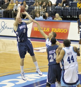 Using the stride stop will help a player's jump shot to become quicker which often provides those much needed inches to shot over a defender (Photo Source: SD Dirk)