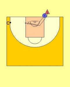 Bump and Move Big Man Drill Diagram 1