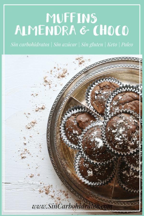 Muffins de chocolate sin harina | Ximena de la serna | Sincarbohidratos