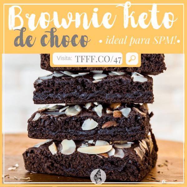 brownie de chocolate saludable | dieta cetogenica | keto evolucionada