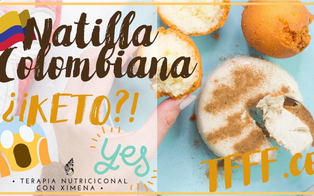 KETO NATILLA COLOMBIANA!! RECETA DIETA CETOGENICA SIN AZUCAR   LCHF