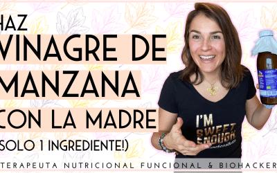 HAZ VINAGRE DE MANZANA CON LA MADRE (SOLO 1 INGREDIENTE!)