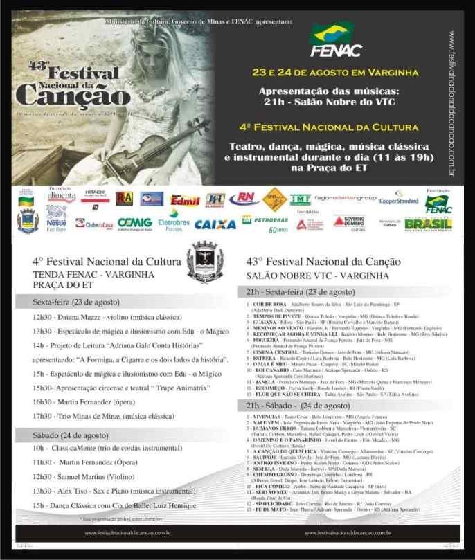 Festival Nacional da Canção - etapa Varginha 2
