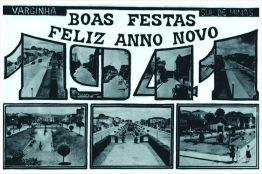 Cartão de Boas Festas e Feliz Ano Novo – 1ª metade do séc. XX. 1941.