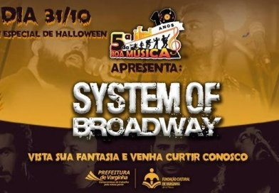 Banda System of Broadway se apresenta no especial de Halloween do 5ª da Boa Música