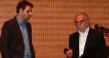 Eduard Arranz-Bravo recollint el premi junt amb Albert Mercader