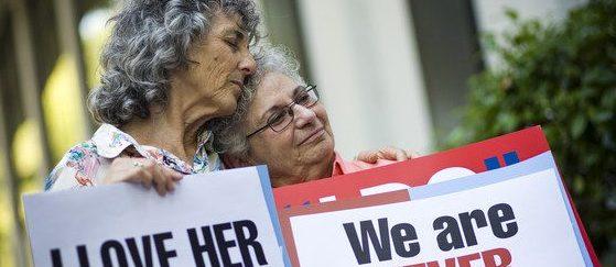 Les activistes LGBTI Shelly Bailes i Ellen Pontac