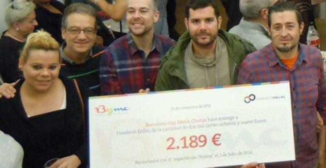 Donatiu de Barcelona Gay Men's Choir a la Fundació