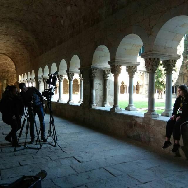 La Carla guia del Monestir de St Cugat protagonista delhellip
