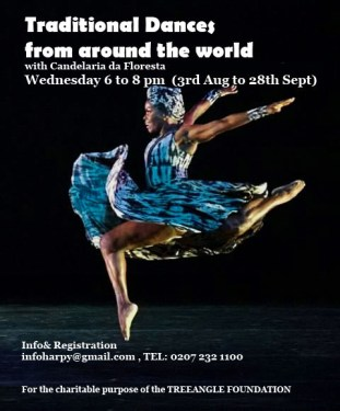 Dances from Around the world workshop. With Candelaria da Floresta Every Wednesday, 6pm - 9 pm