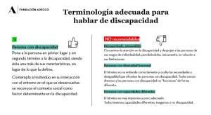 Terminología adecuada para personas con discapacidad