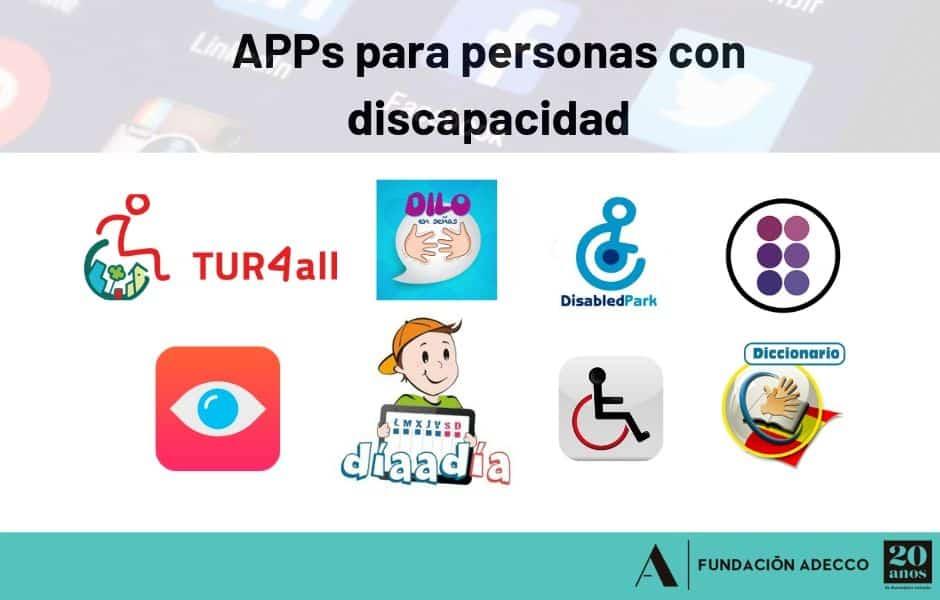 APPs actuales y útiles para personas con discapacidad