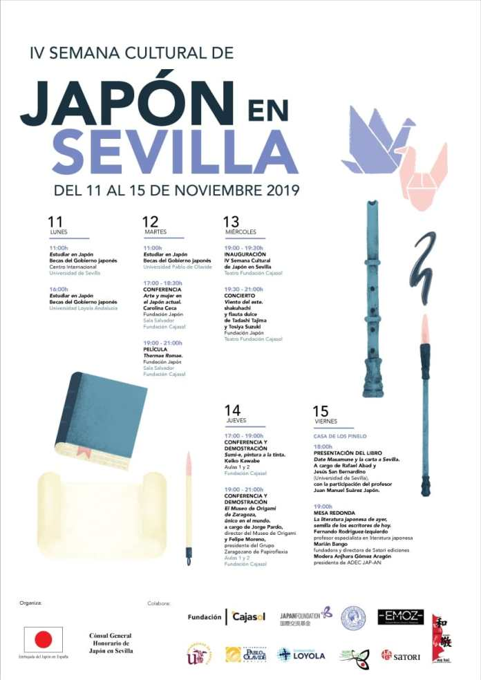 Program of the Fourth Cultural Week of Japan in Seville
