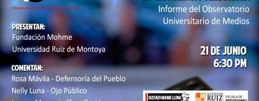 Violencia y Roles de Género en la Prensa Televisiva: Presentación de Informe del OUM