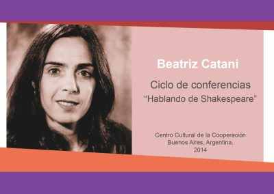 Beatriz Catani – «Hablando de Shakespeare»