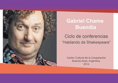 Gabriel Chame Buendia – «Hablando de Shakespeare»