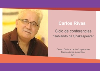 Carlos Rivas – «Hablando de Shakespeare»