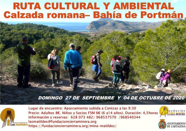 Ruta cultural y ambiental Calzada romana – Bahía de Portmán (días 27 de septiembre y 4 de octubre)