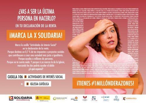 Un gesto de compromiso: marca la «X Solidaria» en tu declaración de la renta