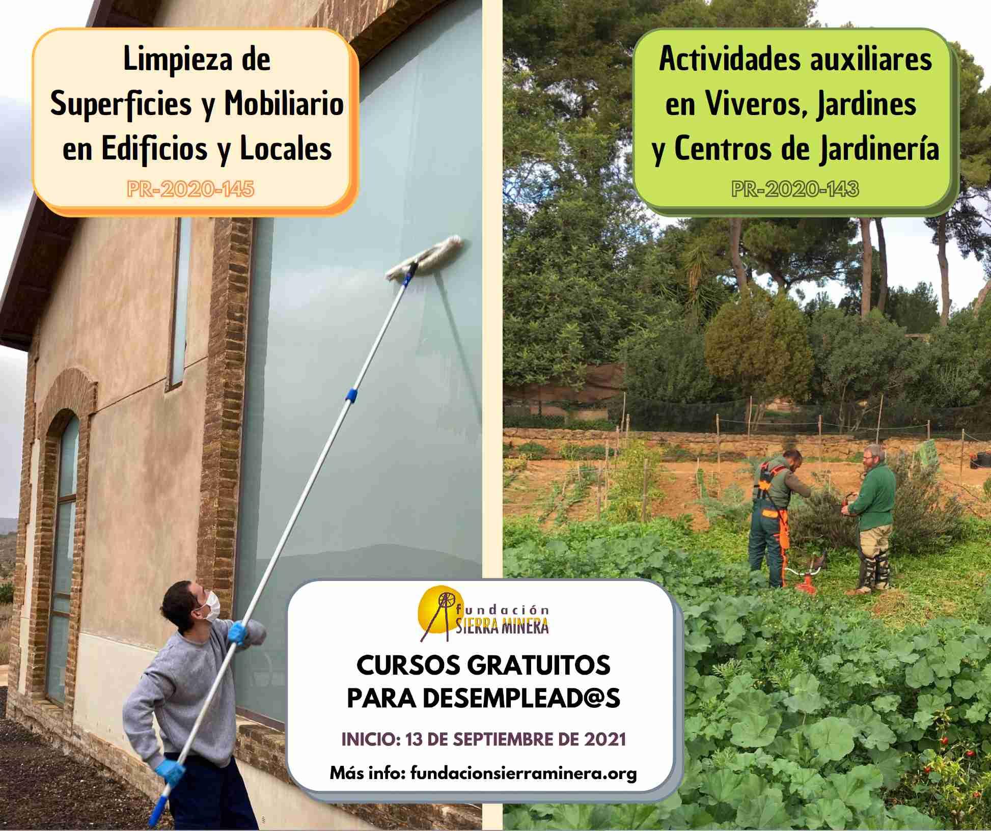 Abierto el plazo de inscripción de los cursos gratuitos de jardinería y limpieza