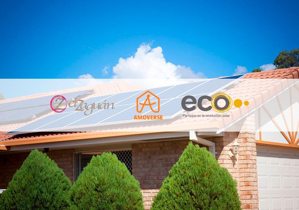 Las empresas de inserción entran en el sector fotovoltaico a través de la firma del convenio entre Amoverse, El Zaguán y Ecooo