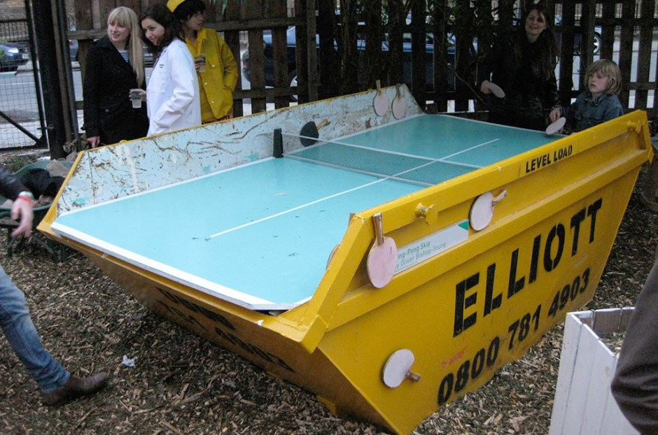 ping pong w ogrodzie społecznym