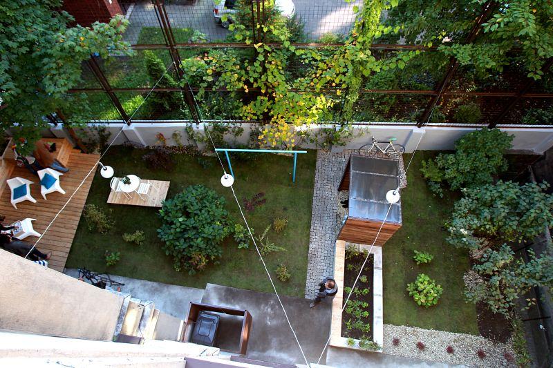 ogród społeczny plac na glanc Lompy widok z góry po remoncie
