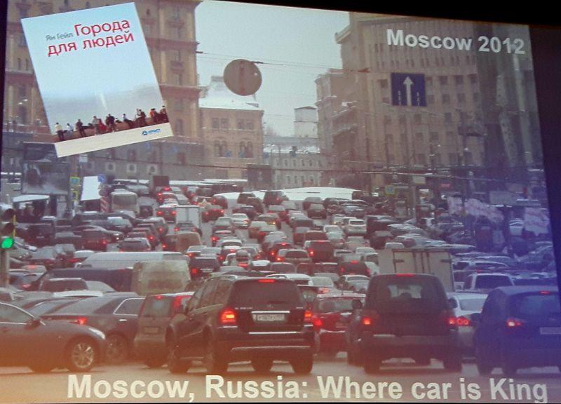 architektura Moskwy - zatłoczone, zakorkowane miasto