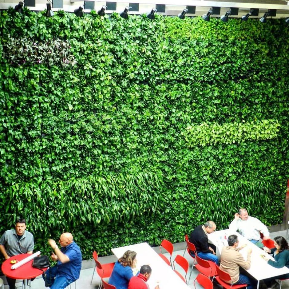 zielone ściany w kawiarni londyn