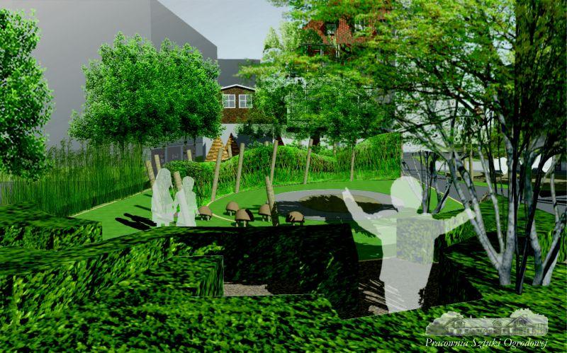 ogród społeczny w Sopocie - wizualizacja