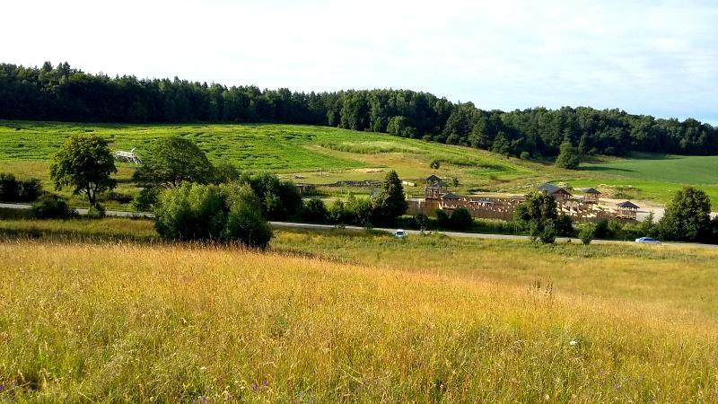 widok na labirynty i kaszubskie łąki