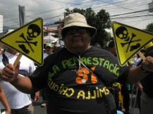 Edgardo marches against mining and in favor of native seed!