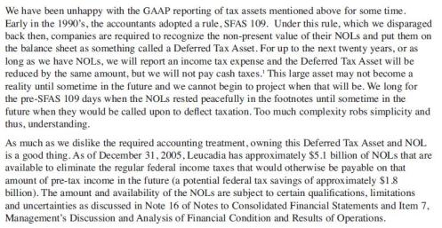 NOL, Deferred Tax Assets