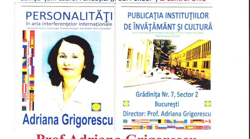 "Centrul ,,Prof.Adriana Grigorescu"" antologator on-line texte CMBRAE (2019)"