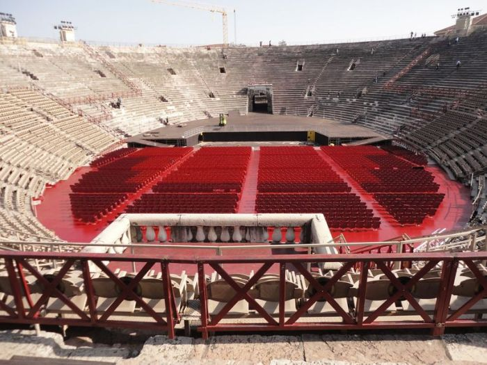 Inside the Arena. Verona, Italy