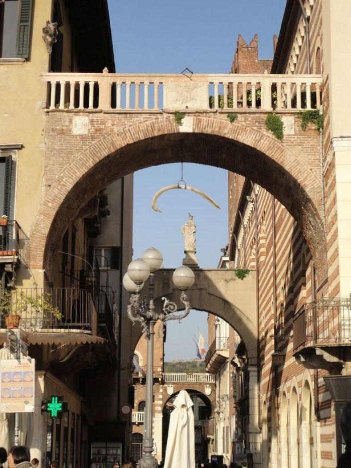 Whale rib. Arco della Costa, Verona, Italy