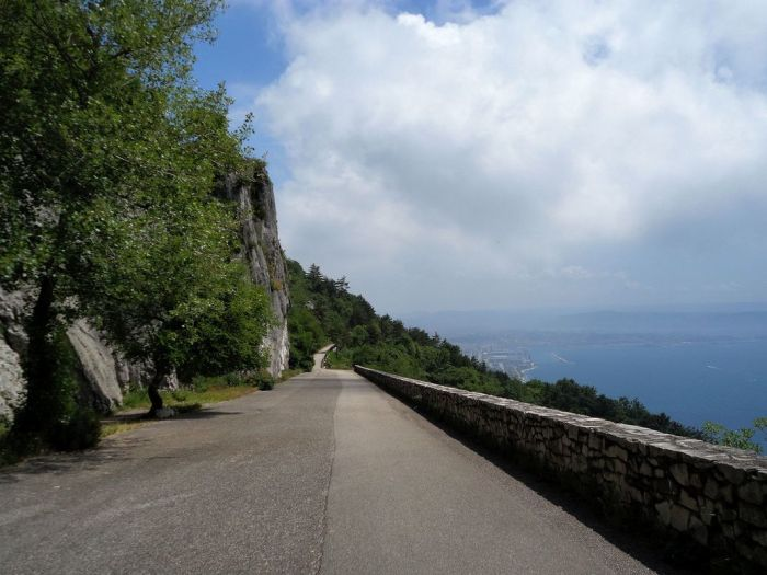 Along the trail. Strada Vicentina (Strada Napoleonica), Trieste, Italy