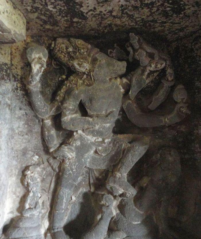 Varaha Avatar. Ellora caves, Maharashtra, India