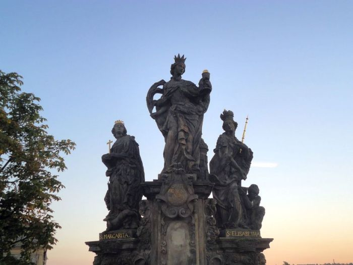 Statues on Charles Bridge. Prague, Czech Republic.