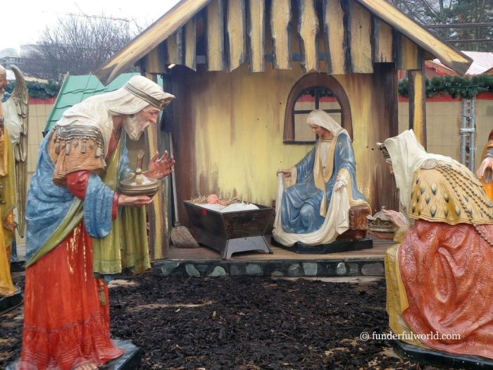 The story of Christmas. Nativity Scene, Berlin, Germany.
