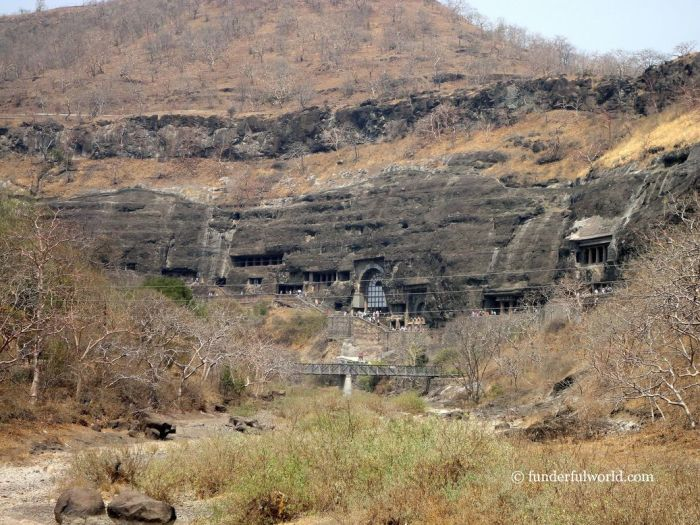 Invaluable treasures. Ajanta Caves, India.