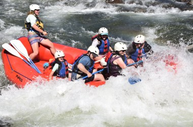 whitewater rafting on the American River