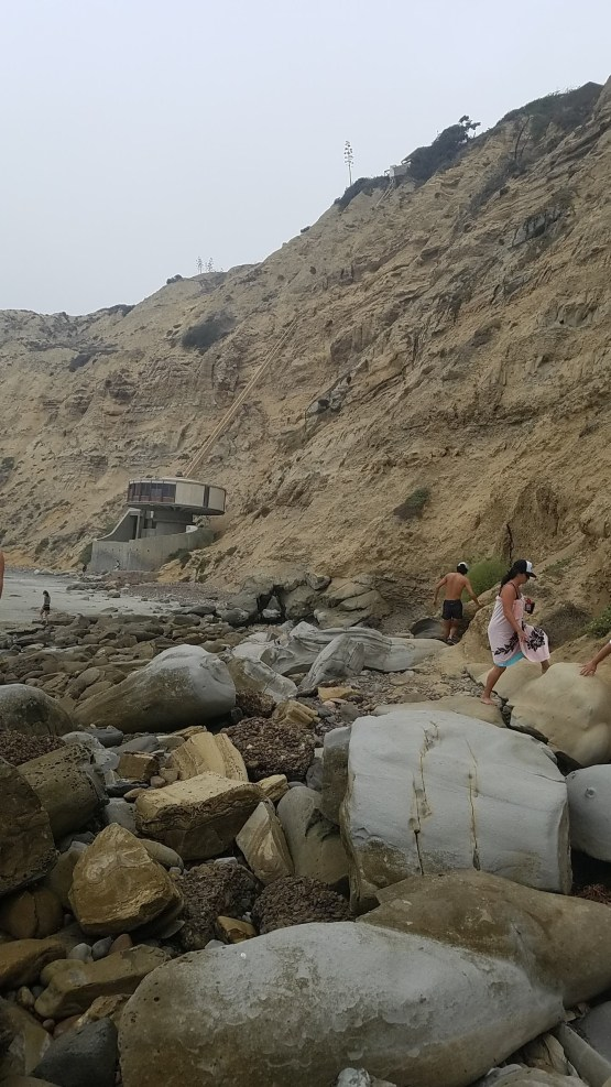 Scripps Beach Dike Rock